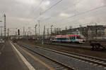 dusseldorf-hauptbahnhof/533560/vt-1008-der-regiobahn-der-auf VT 1008 der Regiobahn, der auf den Namen Wuppertal getauft ist, verlässt am 28.12.16 den Düsseldorfer Hauptbahnhof in Richtung Mettmann, von wo aus man in einigen Jahren nach Wuppertal weiterfahren können wird.