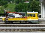 most-na-soa269i/284961/bautriebwagen-911-210-99-79-9-911 Bautriebwagen 911-210 (99 79 9 911 210-1) steht am 10.7.13 im slowenischen Most na Soči.